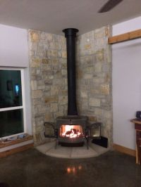 Fire stove in Living room corner. | Our New Home | Pinterest