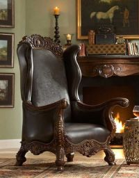 leather chair | Manly Man Cave Ideas | Pinterest
