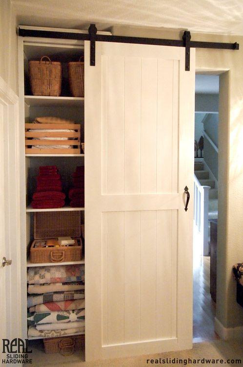 White closet sliding barn doors