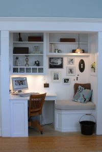 built in computer desk | For the Home | Pinterest