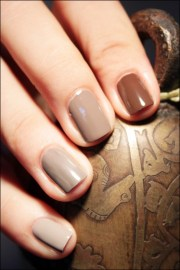 brown ombre nails beauty