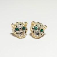 leopard earrings | Earrings | Pinterest