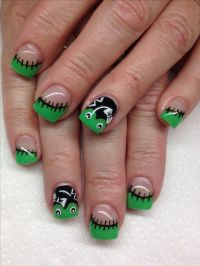 Frank's Babe Halloween Gel nails | Halloween Nail Designs ...