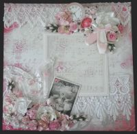 Scrapbook Layout, Shabby Chic, Lace