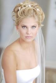 with veil wedding hair