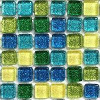 Glass Mosaic Craft Tile Sample Pack 1cm Glitter Various ...