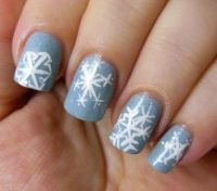 Blue snowflake nails | Nails | Pinterest