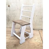 Upcycled kids chair with recycled wood