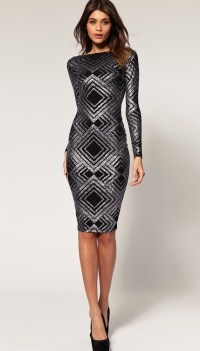 ASOS - black + silver dress | Clothes/shoes | Pinterest