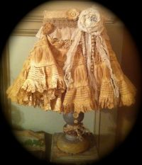 vintage shabby chic lamp shade lampshade GORGEOUS