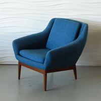 Blue mid century chair | Nesting | Pinterest