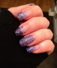 Purple glitter gel nails | ~ Nails ~ | Pinterest