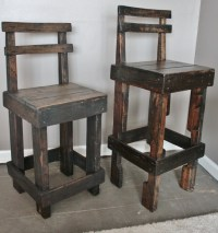 Pallet Wood Bar Stool with Back. Making three of these for