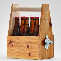 6-pack wooden beer holder... make it | wine bottles, corks ...