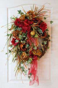 Large Fall Wreath, Front Door Wreath, Autumn Wreath ...