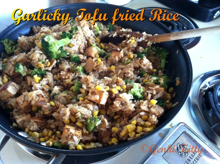 Vegan Garlicky Tofu Un-Fried Rice Recipe