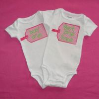 Twin Baby Girls Onesie, Buy One Get One