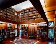 Home Library: Two Story Library | Library/office | Pinterest