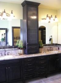 Vanity top storage cabinet