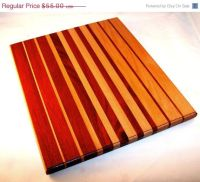 Holiday sale Wooden Cutting Board, Bloodwood and Beech