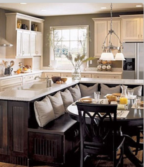 Kitchen island nook  awesome kitchen  For the Home