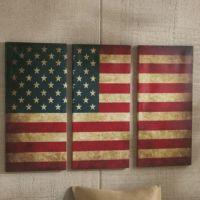 American flag wall art 3 piece