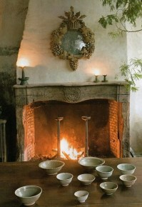 French Country fireplace - mirror. | French Country ...