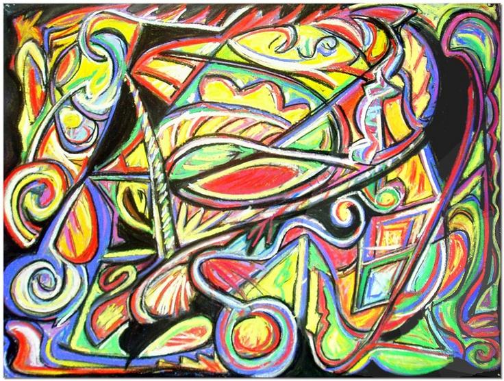 Abstract Pastel Art