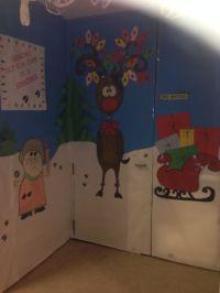 Christmas Door Decorating Contest Reindeer