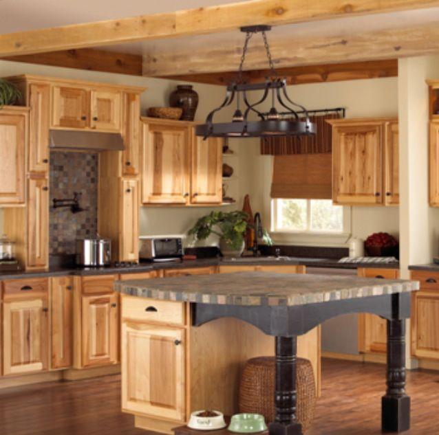 Denver Hickory cabinets  Farm or Barn House Inspiration