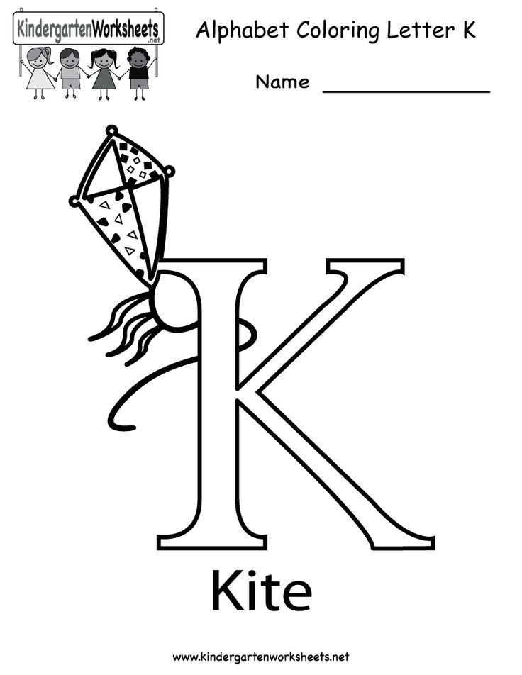 Pin by Kindergarten Worksheets on Alphabet Worksheets