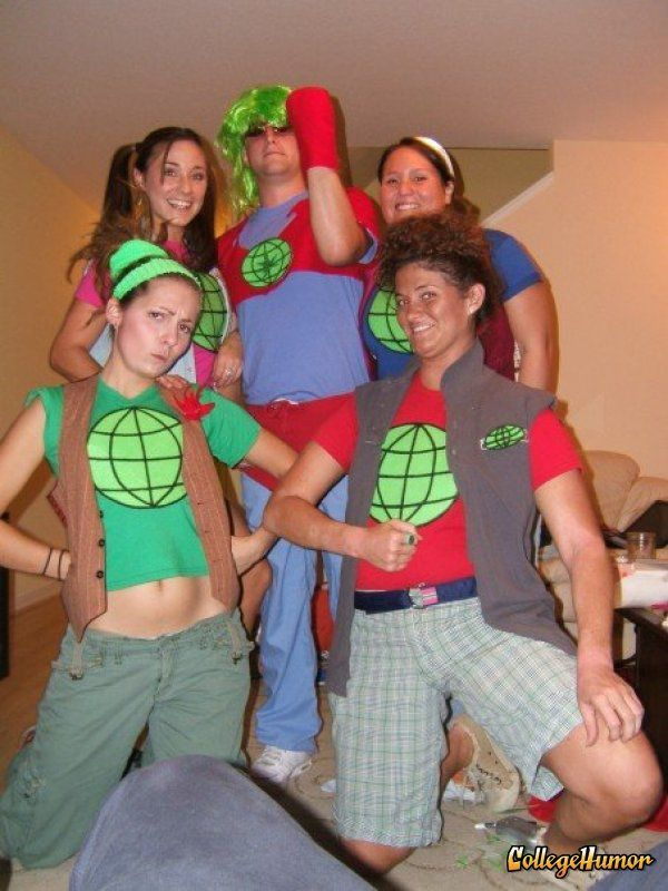 Captain Planet and Planeteers - perfect group costume