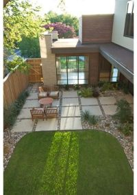 Concrete Squares Patio | For the Dog + Backyard | Pinterest