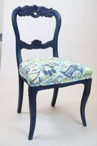 Vintage navy blue chairs Annie Sloan chalk painted https ...