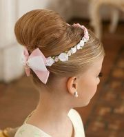 little girl updo hairstyle hair