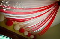 Circus tent on ceiling | Circus birthday party | Pinterest
