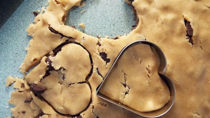 Heart Shaped Chocolate Chip Cookies Recipe