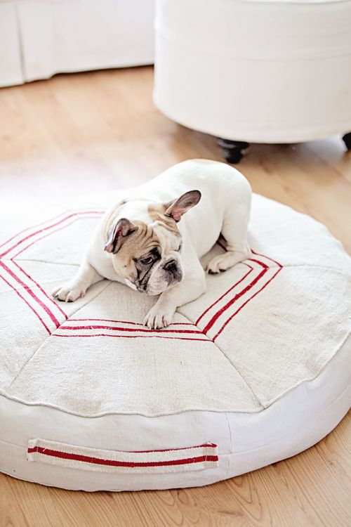 Vintage Grain Sack Dog Beds