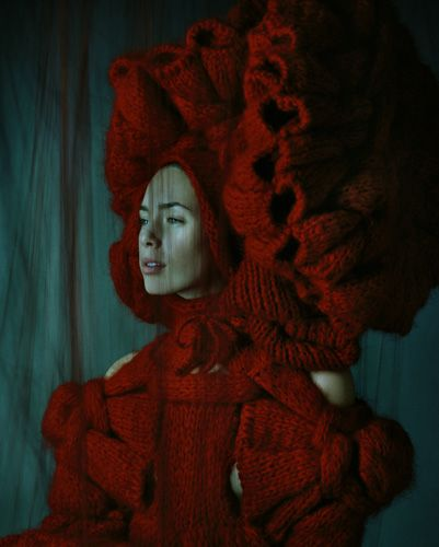 Sandra Backlund Red Headress (Don't Walk Collection)