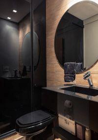 Black and beige bathroom | Home ideas | Pinterest