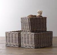 Normandy Wicker Shelf Storage Basket | Baby | Pinterest