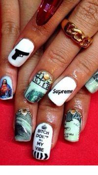 Gangsta nails | Nails | Pinterest