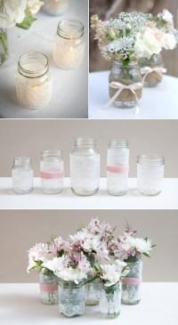 Mason jar bridal shower decor ideas