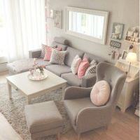 Pretty pretty grey & pink living room | Home Sweet Home ...