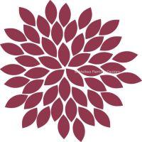 Vinyl Wall Decal, Dahlia Flower (Single) (FW1001)