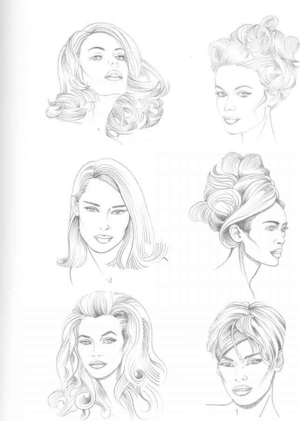 30 Female Hairstyles Drawing Reference Face Front Hairstyles
