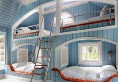 0b3050/cool Bunk Beds Built Into Wall