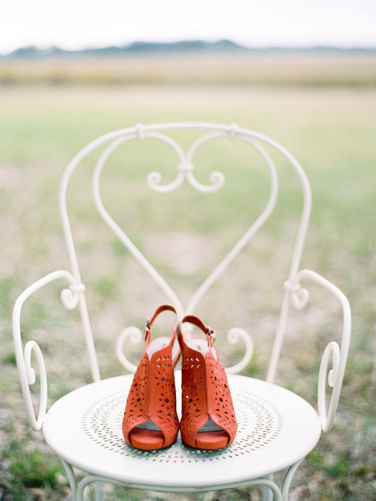 Orange Bridal Shoes Florida Wedding from Ryan Ray Photography