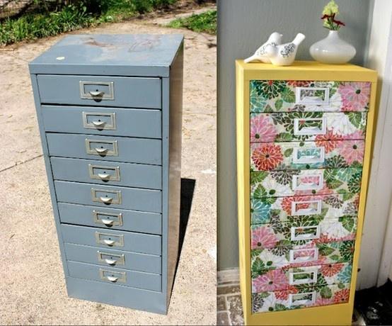 filing cabinet makover  Cute crafts  Pinterest
