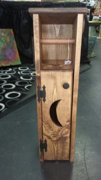 "Handmade Wooden Toilet Paper Holder ""Outhouse"" with Moon ..."